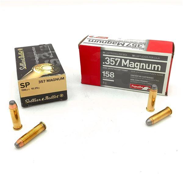 Assorted 357 Magnum Ammunition - 100 Rnds