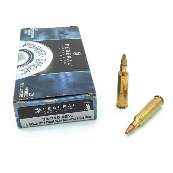 Federal Power Shok 22 - 250 Rem Ammunition - 20 rnds