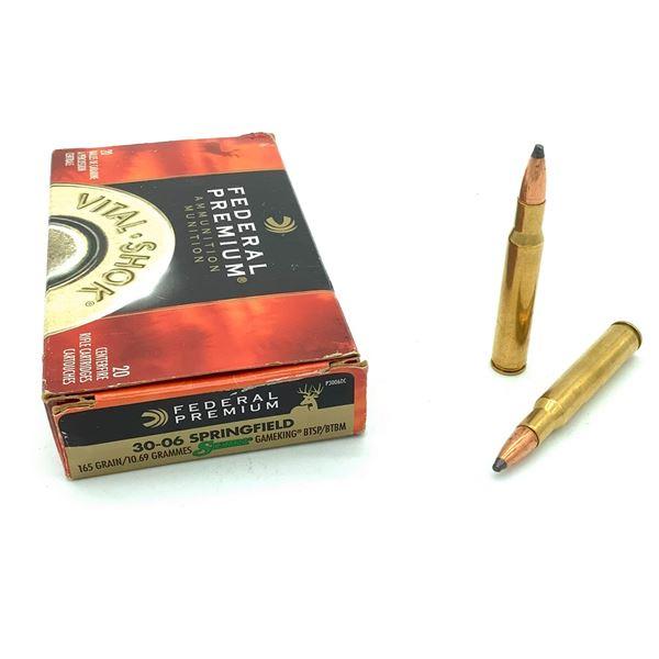 Federal Premium Vital Shok 30-06 Sprg Ammunition - 20 Rnds