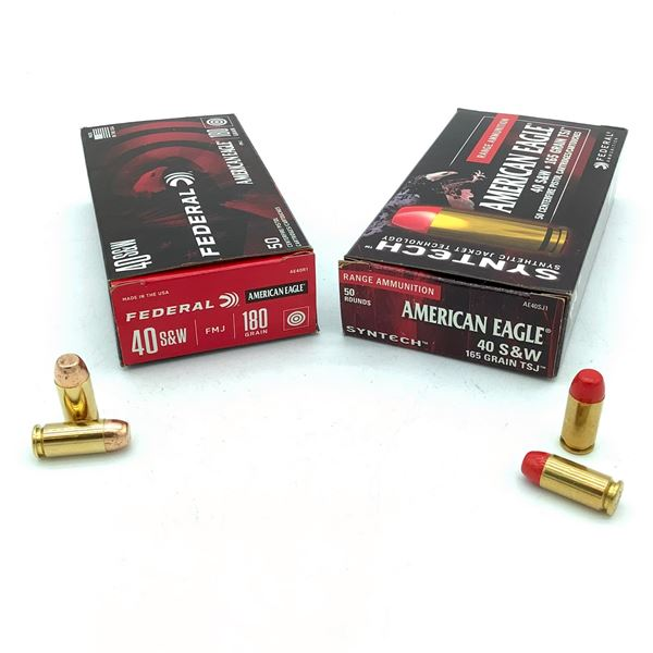 Federal American Eagle 40 S& W Ammunition - 100 Rnds