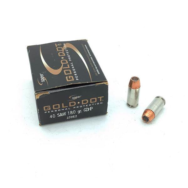 Speer Gold Dot 40 S& W Ammunition - 25 Rnds