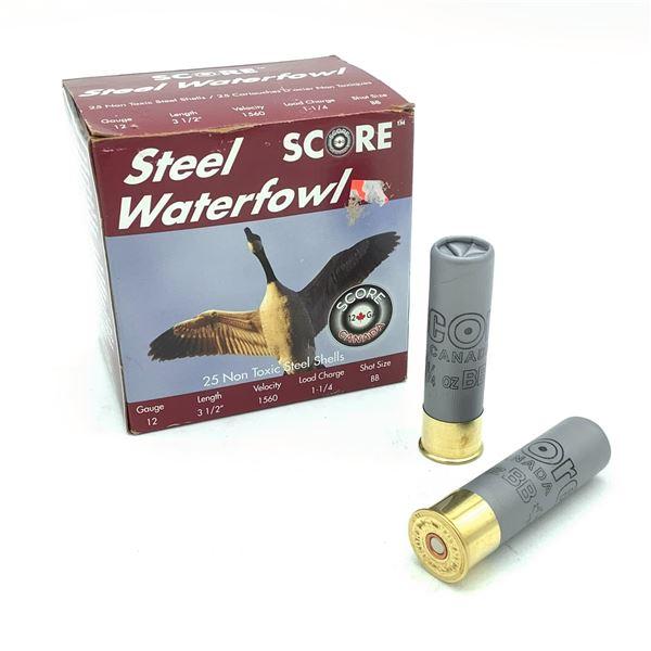 Score Steel Waterfowl 12 Ga Ammunition - 25 rnds