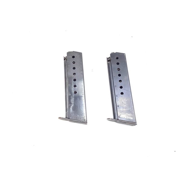 Two Walther P38/P1, 9mm Magazines