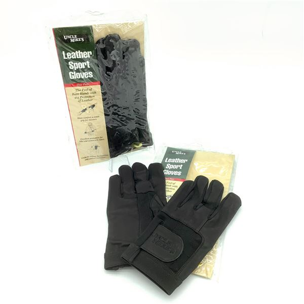 2 Pairs of Uncle Mike's Leather Sport Gloves S, New