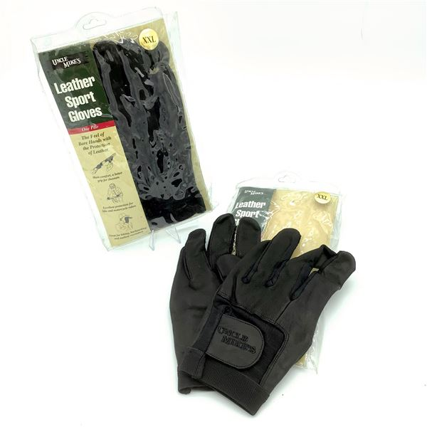 2 Pairs of Uncle Mike's Leather Sport Gloves XXL, New