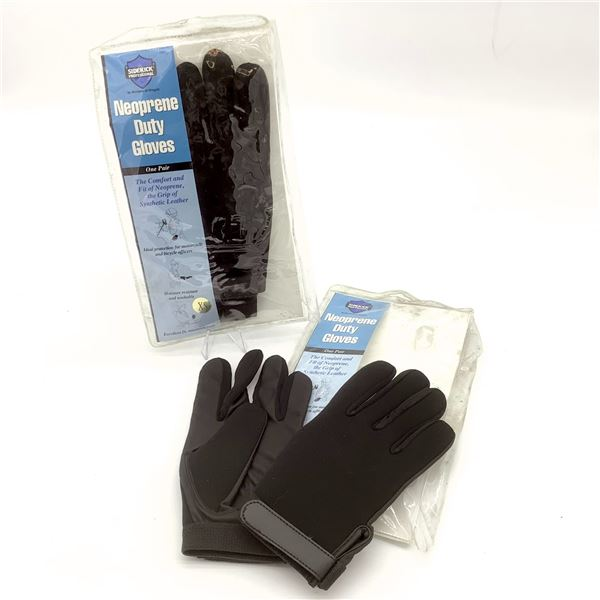 2 Pairs of Sidekick Professional Neoprene Duty Gloves XS, New