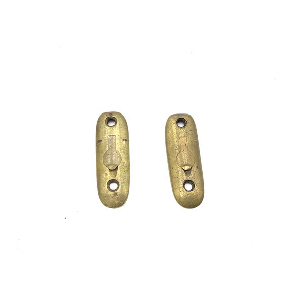 Two Lee Enfield NO 1 Brass Butt Plates