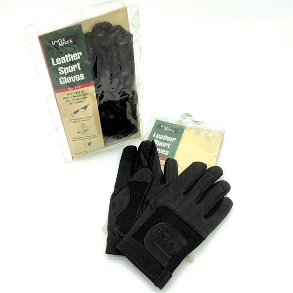 2 Uncle Mike's Leather Sport Gloves S