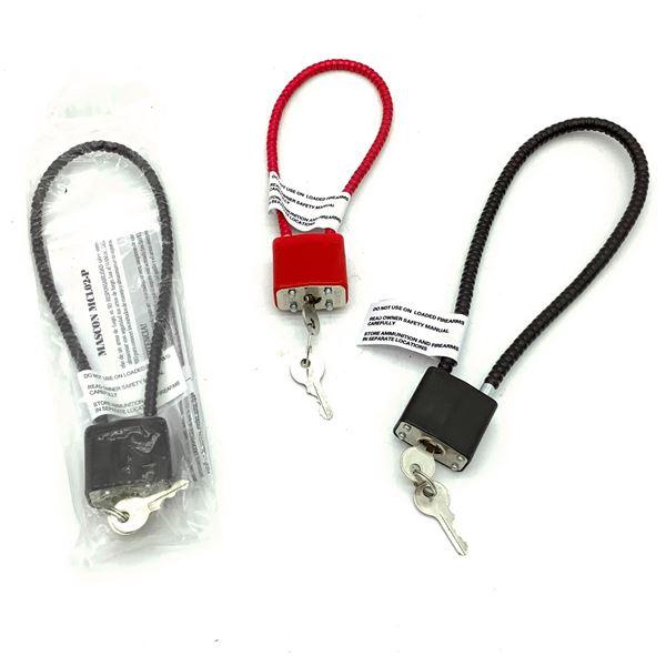 3 Keyed Cable Locks
