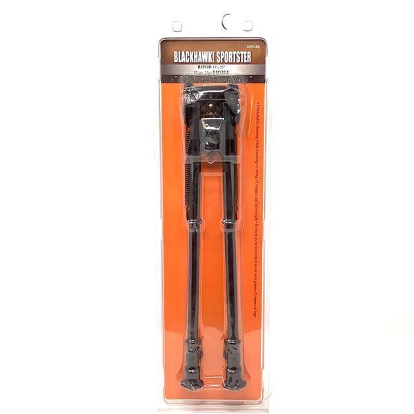 """BlackHawk! Sportster 13.5""""-23"""" Bipod, Attaches W Swivel Stud, Blk, Display Model"""