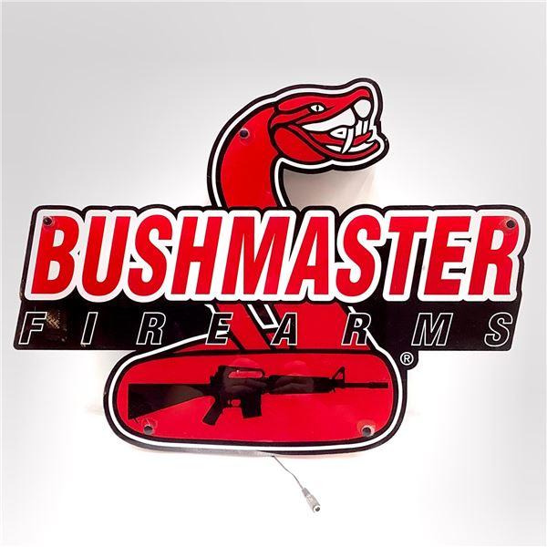 Bushmaster Firearms Illuminating Advertising & Display Sign, New