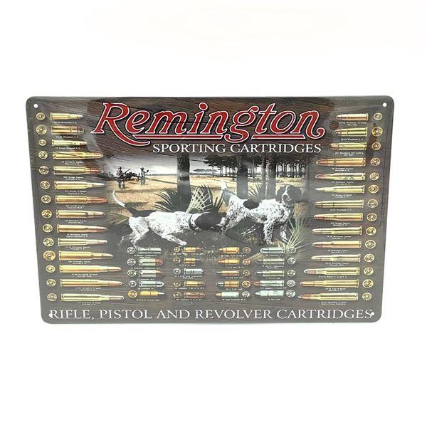 """Remington Tin Sign 11.5"""" x 8"""""""
