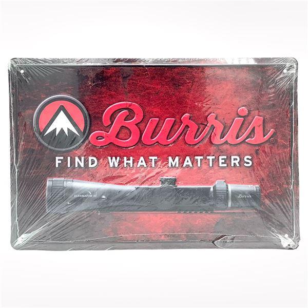 """Burris Tin Sign 18"""" x 12"""""""