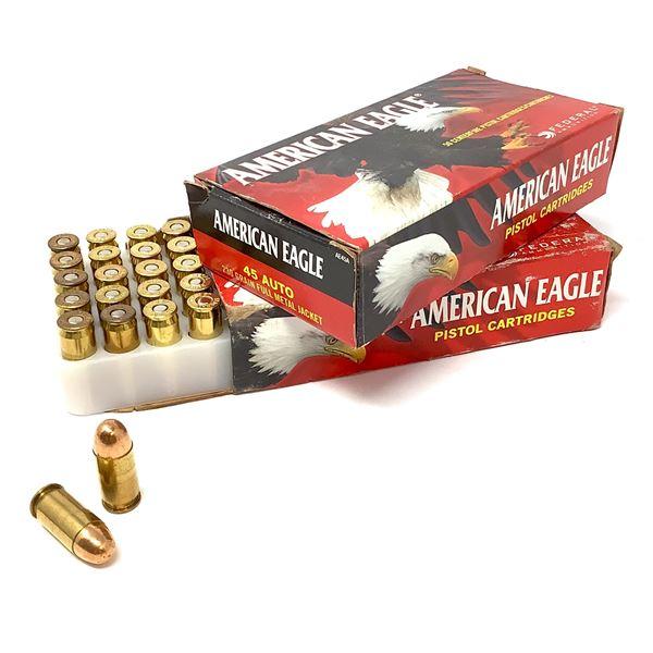 American Eagle 45 ACP, 230 Gr FMJ Ammunition, 84 Rounds