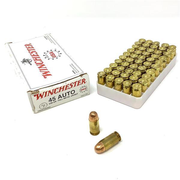 Winchester/ CCI 45 ACP, 230 Gr FMJ Ammunition, 65 Rounds