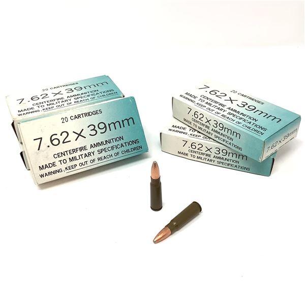 Norinco 7.62 X 39 Non-Corrosive FMJ Ammunition, 100 Rounds