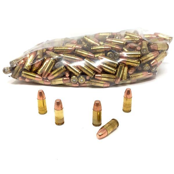 Loose, Assorted 9mm 147 Gr FMJ Ammunition - 325 Rnds