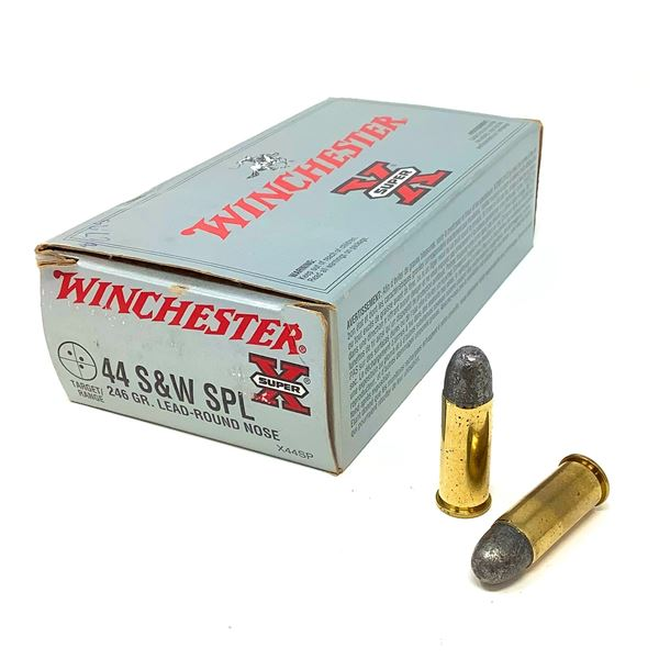 Winchester 44 S & W, 246 Gr LRN Ammunition, 50 Rounds