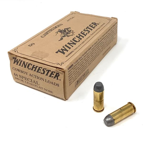 Winchester 44 Special Cowboy Action 240 Gr, LFN Ammunition, 50 Rds