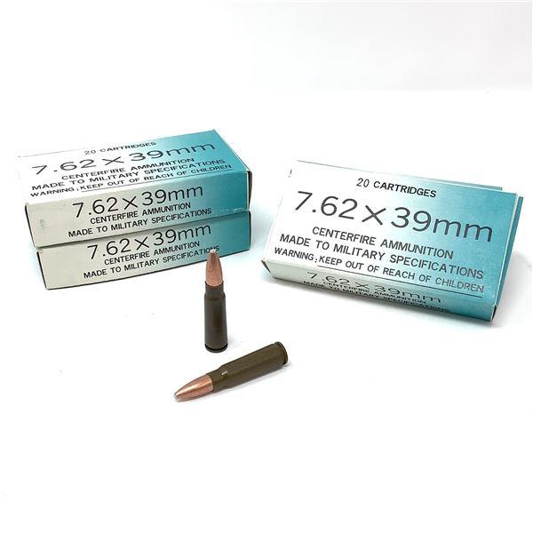 Norinco 7.62 X 39 Non-Corrosive FMJ Ammunition, 80 Rounds