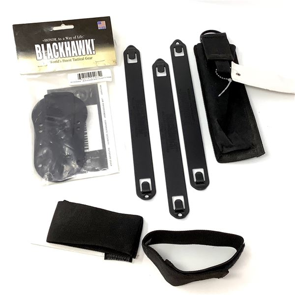 BlackHawk Wrench Pouch, Knife Sheath, 3 Speed Clips and Weapon Retainer, New