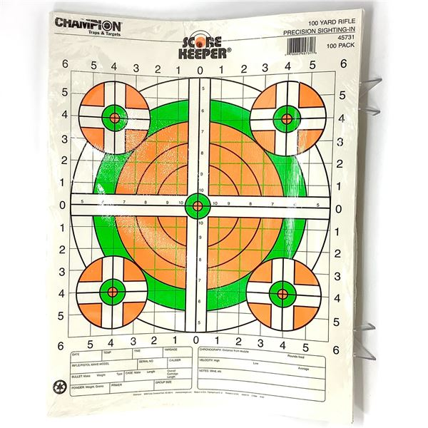 Champion Sight-In Targets, 100 Pk, New