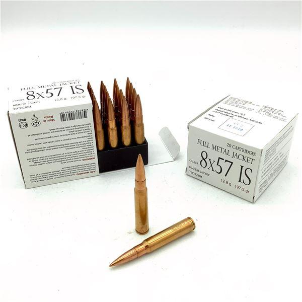 8 x 57 IS Ammunition - 40 Rnds