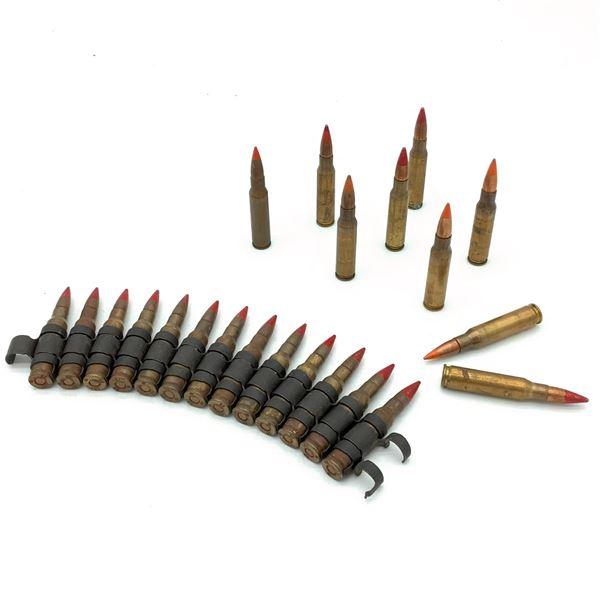 Assorted Loose 308 Tracer Ammunition - 22 Rnds