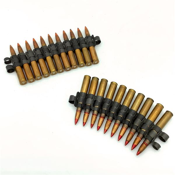 Assorted Belted 30-06 Tracer Ammunition - 21 Rnds