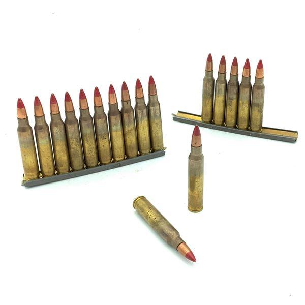 Surplus 5.56 Tracer Ammunition on Stripper Clips - 17 Rnds