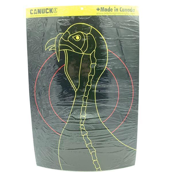 """Canuck Splatter Turkey Head Reactive Target 10 pack 12"""" x 18"""", New"""