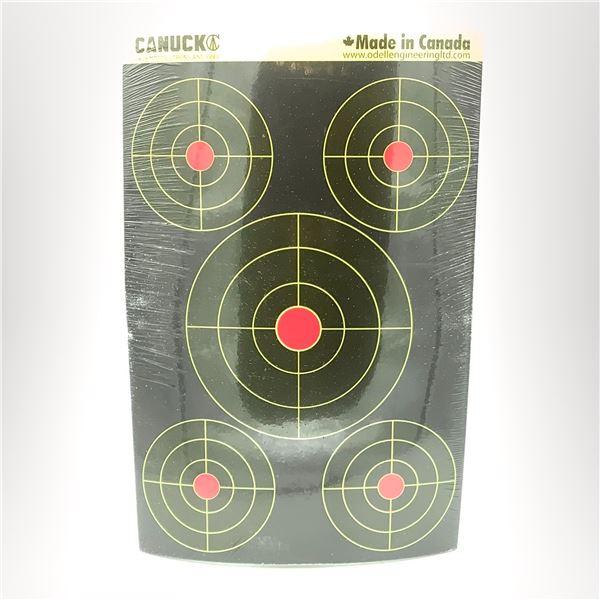 """Canuck Splatter Bullseye Reactive Targets 25 pack 12"""" x 18"""", New"""