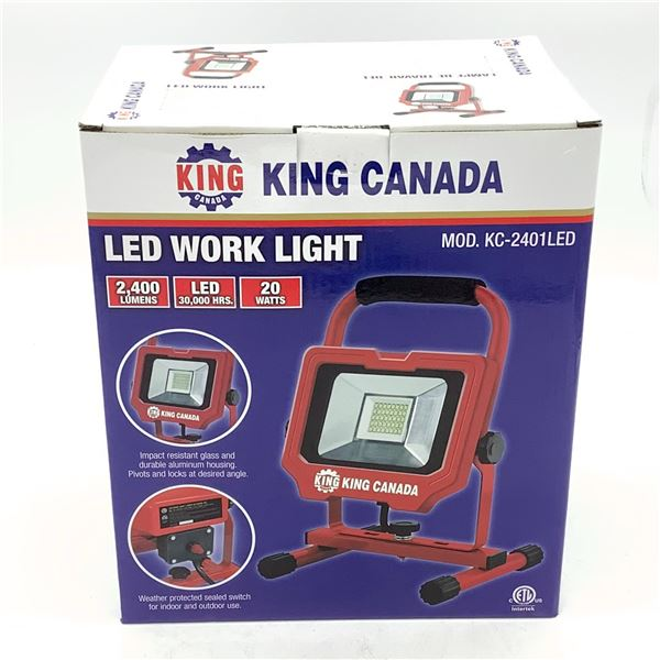 King Canada 40 LED Work Light, New