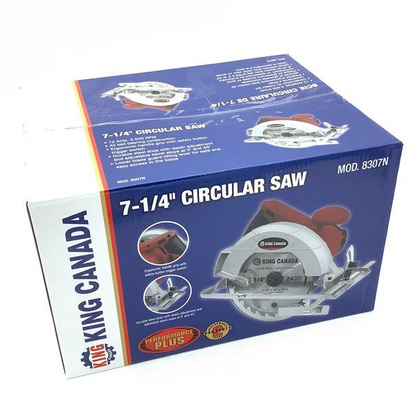 "King Canada 7.25"" Circular Saw, New"