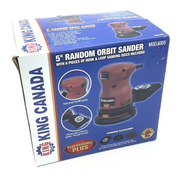 """King Canada 5"""" Random Orbit Sander, New"""