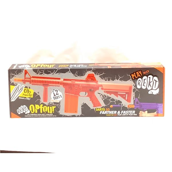 REKT OPFOUR CO2 Powered Foam Dart Launcher, New
