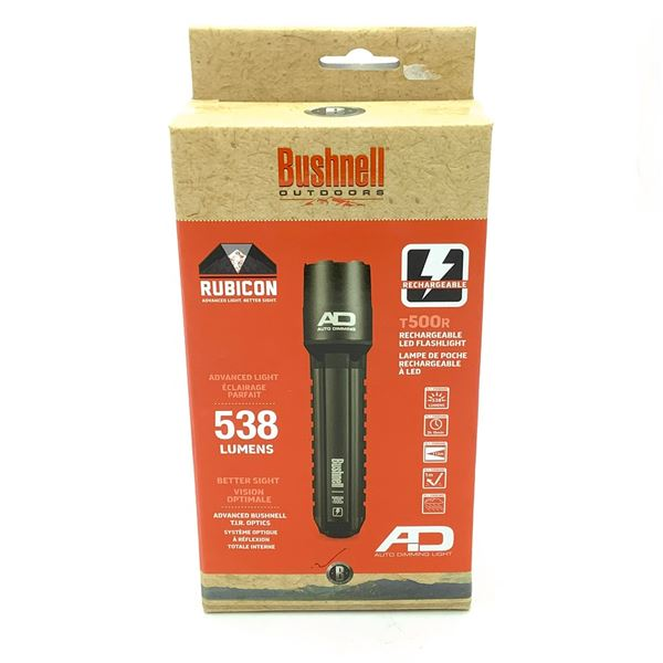 Bushnell Rubicon T500R Rechargeable LED Flashlight, New