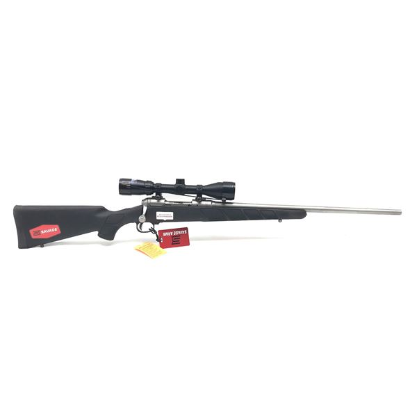 Savage Model 16 Stainless Bolt-Action Rifle, 6.5 Creedmoor, Bushnell Banner 3-9X40, New