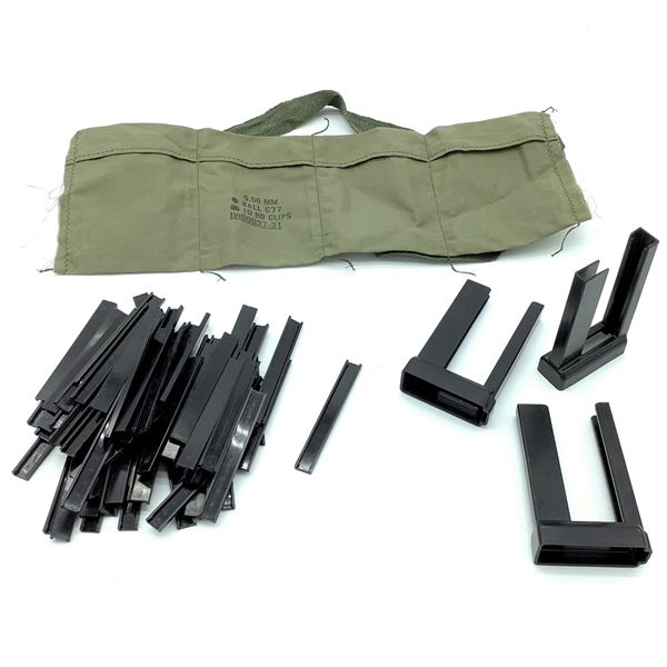 Stripper Clips for 5.56 (x66), Speed Loaders (x3) and 5.56 Bandoleer