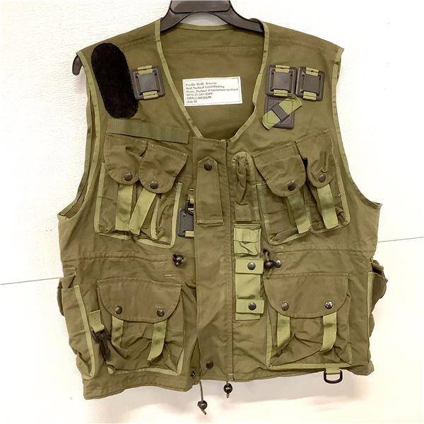 Load Bearing Tactical Vest, Small/Medium, Green