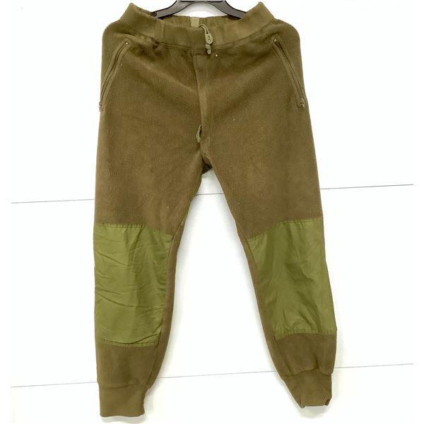 "Canadian Military Fleece Pants, Approx 34"" Waist, ODG"