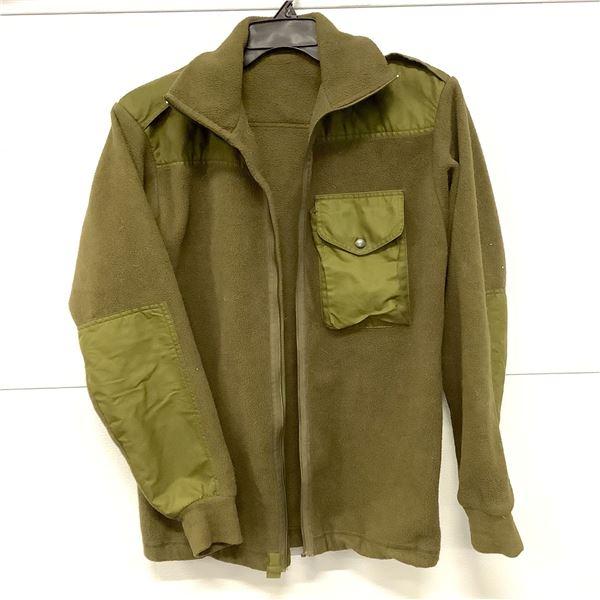 Canadian Military Fleece Zip Up Sweater, Size 7336
