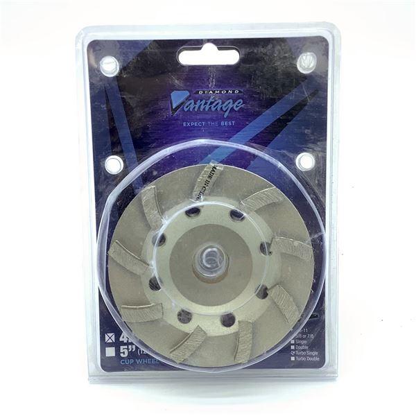 "Diamond Vantage 4.5"" X 7/8-5/8"" Cup Grinding Wheel, New"