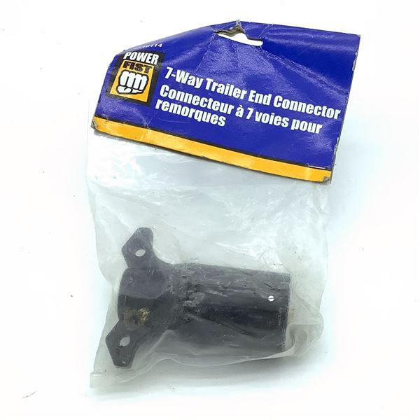 Power Fist 7-Way Trailer End Connector, New
