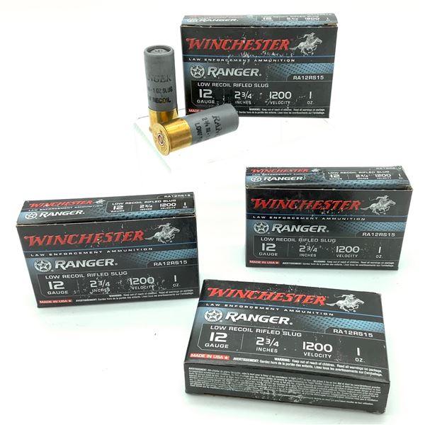 """Winchester LE Ranger Low Recoil 12 Ga 2 3/4"""", 1 Oz Ammunition, 20 Rounds"""