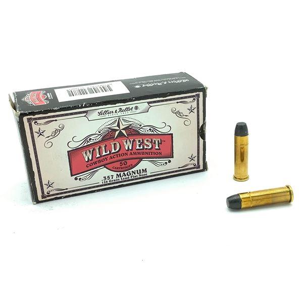 Sellier & Bellot Wild West 357 Mag 158 Grain LFN Ammunition, 50 Rounds