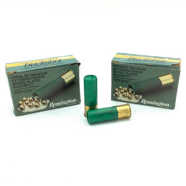 "Remington Premium Magnum 12 Ga, 3"" Nickle Plated 000 Buck Ammunition, 20 Rounds"