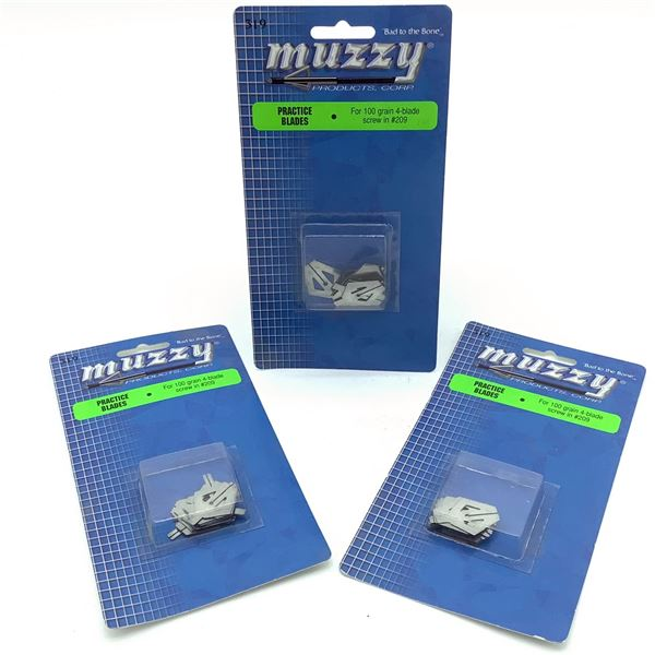 Muzzy Practice Blades for 100 Gr 4-Blade Screw-In 209 X 3, New