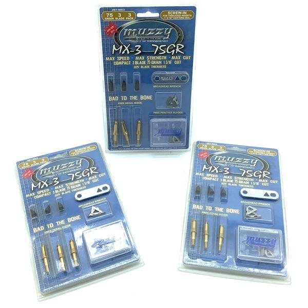 Muzzy MX-3 75 Gr, 3 Blade, 3 Pk X 3, New