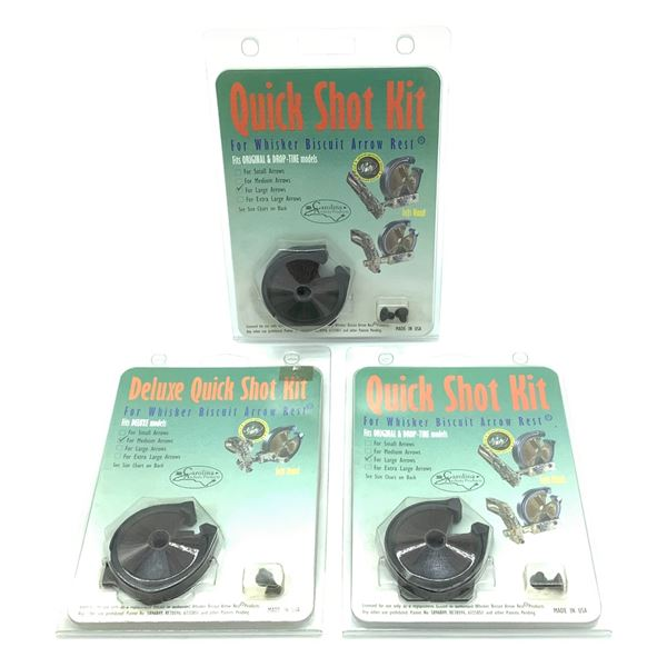 Quick Shot Kit for Whisker Biscuit Arrow Rest, Large Arrows, X 3, New
